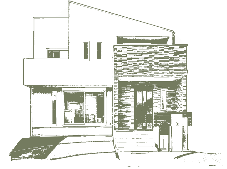 KAZA DESIGNのデザイン分譲住宅のイラスト