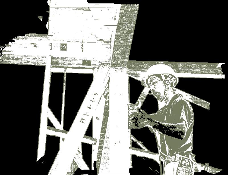 KAZA DESIGNの職人の施工風景イラスト