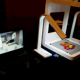おもちゃのブロックを組み合わせて3D空間を体験。
