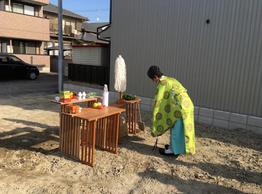 名古屋市中村区注文住宅 T様邸「地鎮祭」