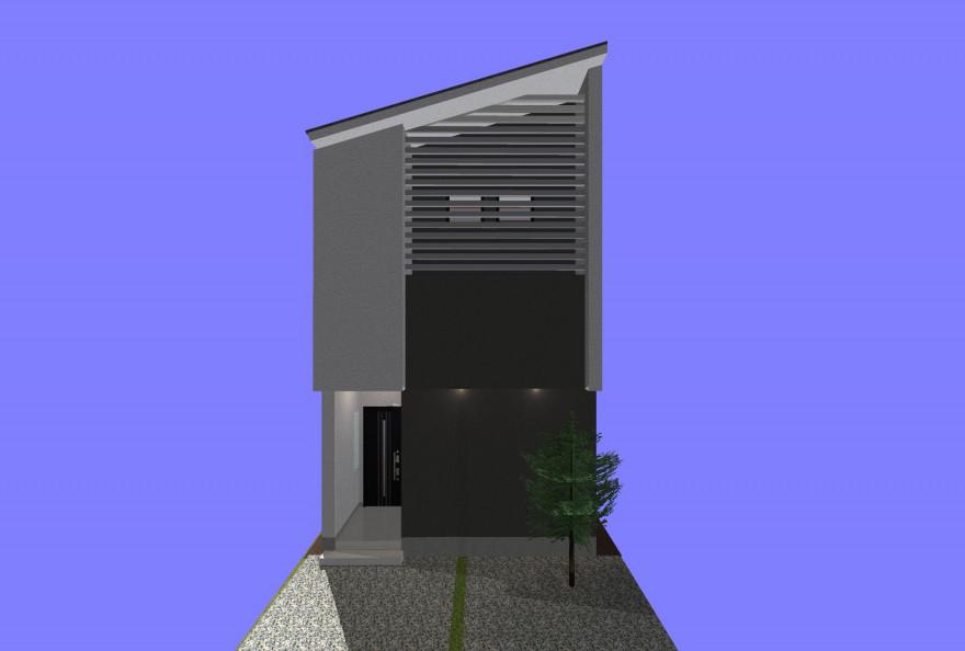 中村区注文住宅 「メタリックブラインドのある家(中二階のある家)」着工開始