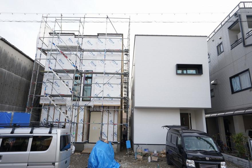 中村区注文住宅 「O様邸」足場解体。