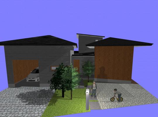 瀬戸市注文住宅3Dパース