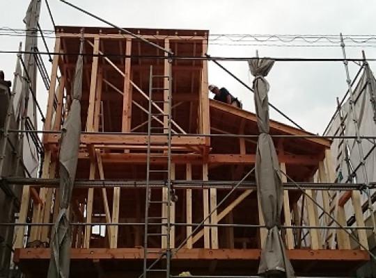 中村区注文住宅 「Y様邸」上棟開始