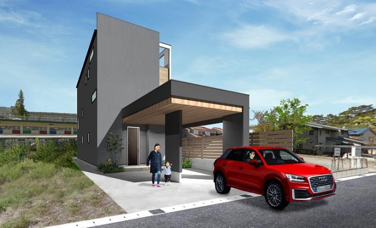 Wood garage  ~中二階のある家~