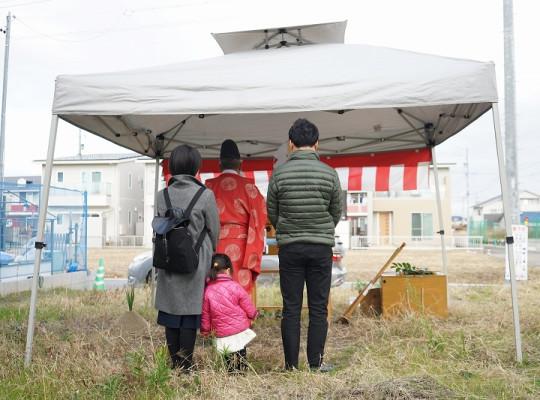 清須市注文住宅地鎮祭