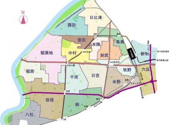 中村区の小学校区から探す不動産情報