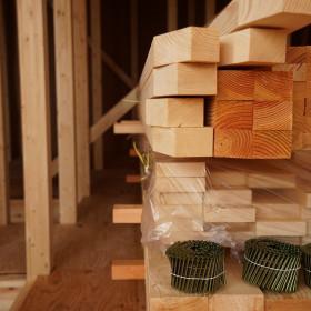 中村区注文住宅、「3階建て吹抜けのある家」上棟しました。