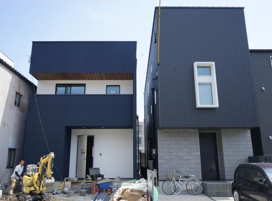 名古屋市中村区注文住宅、「A様邸」ファサードお披露目