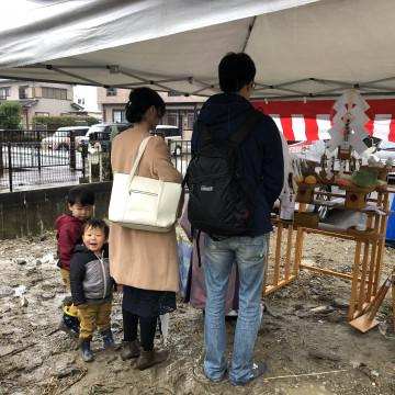 中川区の注文住宅、「S様邸」地鎮祭