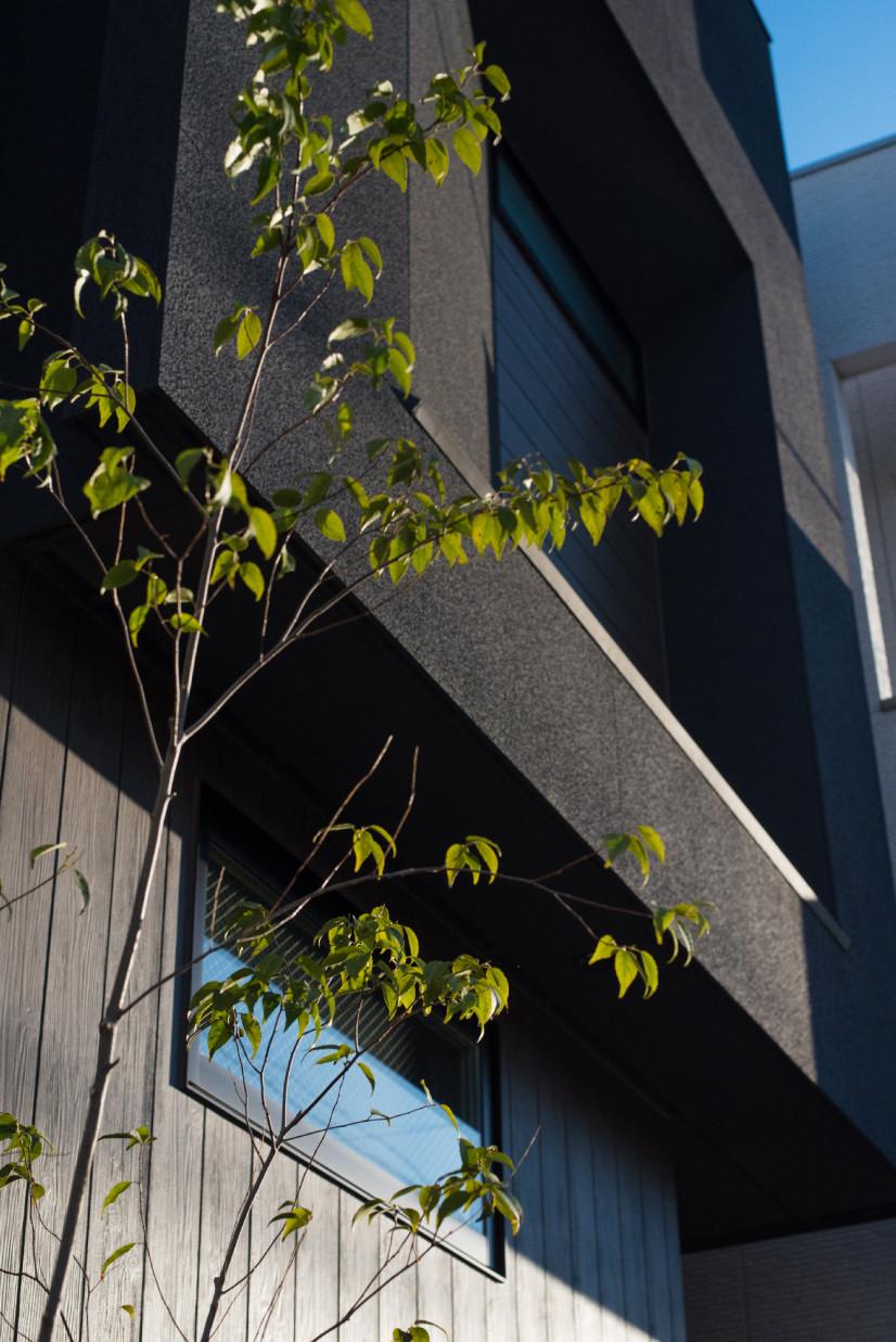 三角勾配天井のある家