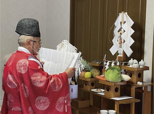 中村区注文住宅「K様邸」解体前のお祓いと地鎮祭