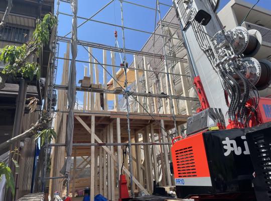 名古屋市中村区注文住宅「K様邸」上棟